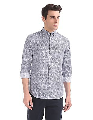 Gant Rose Dot Print Regular Button Down Shirt