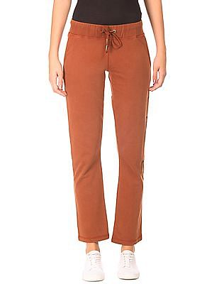 EdHardy Women Brand Print Knit Track Pants