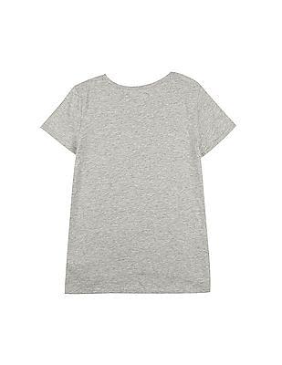 GAP Girls Grey GapKids | Disney Sequin T-Shirt