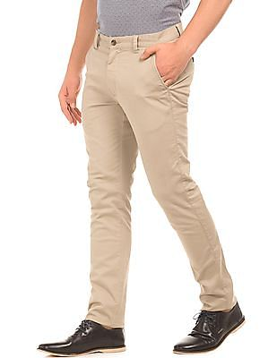 Arrow Sports Solid Slim Fit Chinos