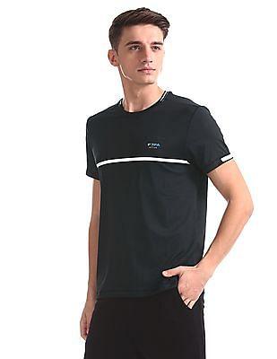 USPA Active Black Stripe Chest Active T-Shirt