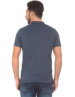 Roots by Ruggers Mandarin Collar Regular Fit Polo Shirt