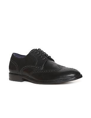 Cole Haan Black Harrison Grand 2.0 Wingtip Derby Shoes