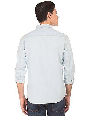 Aeropostale Regular Fit Chambray Shirt