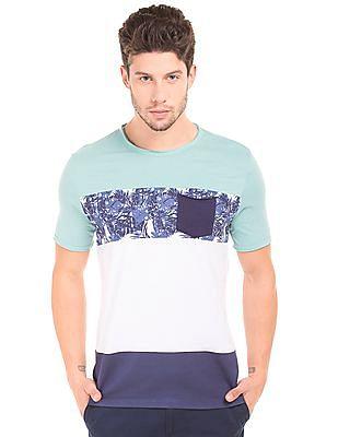 Colt Raw Edge Colour Block T-Shirt