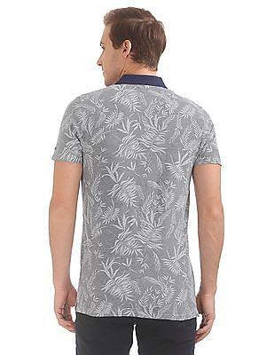 Gant Leaf Print Pique Short Sleeve Rugger Polo