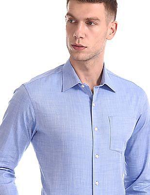 Arrow Slim Fit Chevron Pattern Shirt