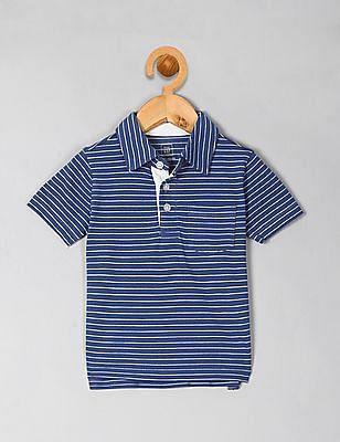 GAP Boys Blue Stripe Polo Shirt