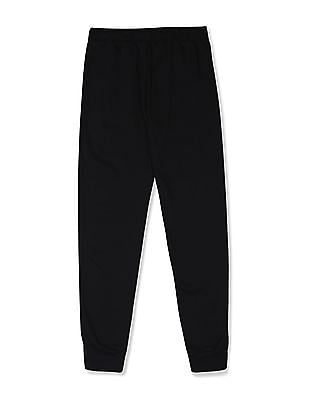The Children's Place Black Girls Solid Knit Joggers