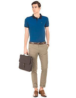 Arrow Sports Twill Slim Fit Trousers