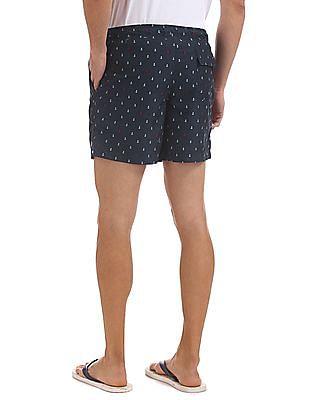 Bayisland Regular Fit Anchor Print Board Shorts