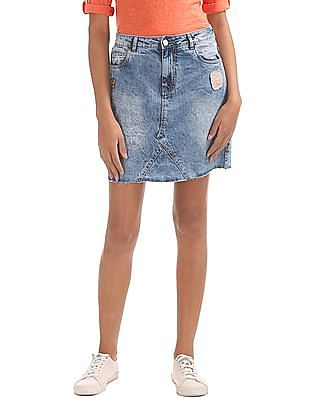 SUGR Washed Denim Skirt