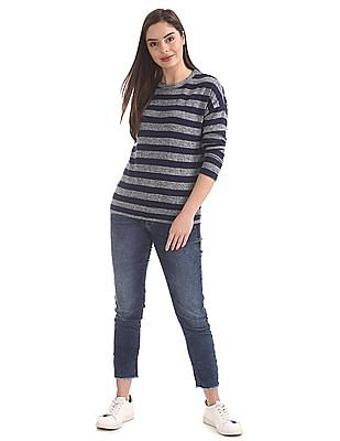 Cherokee Striped Patterned Knit Sweater