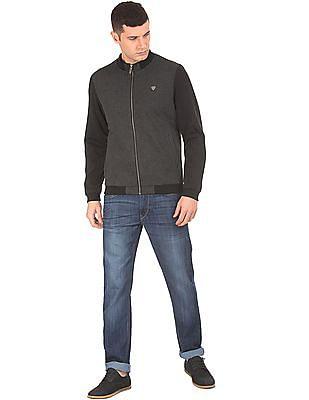 Arrow Sports Patterned Weave Bomber Jacket