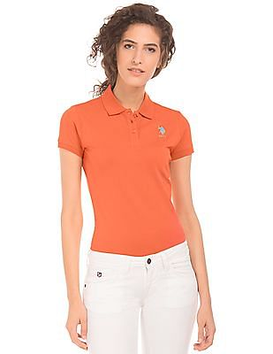 U.S. Polo Assn. Women Regular Fit Pique Polo Shirt