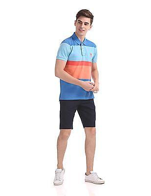 U.S. Polo Assn. Regular Fit Colour Block Polo Shirt