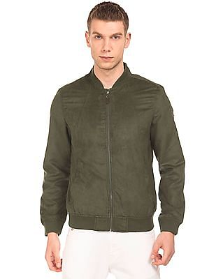 U.S. Polo Assn. Solid Suedette Bomber Jacket