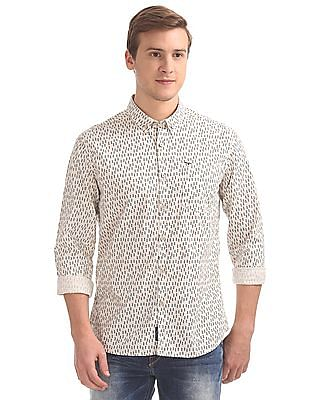 Flying Machine Printed Slim Fit Shirt