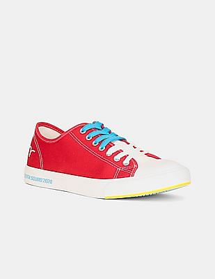 Flying Machine Red Cap Toe Canvas Sneakers