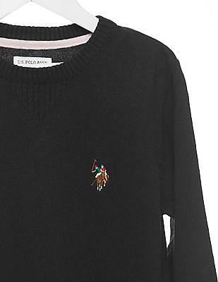 U.S. Polo Assn. Kids Boys Regular Fit Crew Neck Sweater