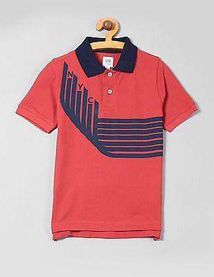 GAP Boys Graphic Polo Short Sleeve Shirt
