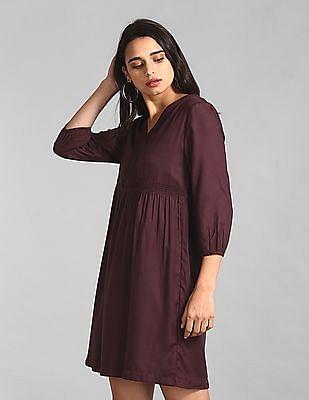 GAP Purple Solid Lace Dress