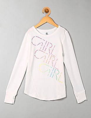 GAP Girls Graphic Long Sleeve Tee