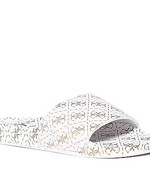 GUESS Textured Sole Printed Slides