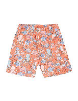 FM Boys Boys Animal Print Slim Fit Shorts