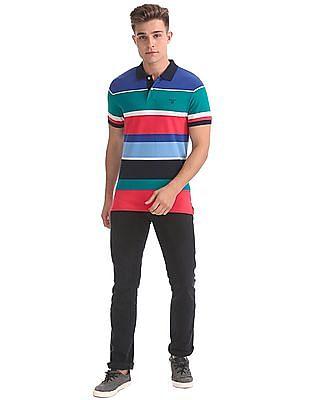 Gant Multi Colour Stripe Short Sleeve Rugger T-Shirt