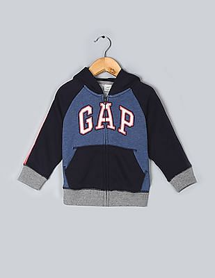 GAP Baby French Terry Blocked Hoodie