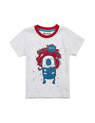 Donuts Boys Round Neck Printed T-Shirt