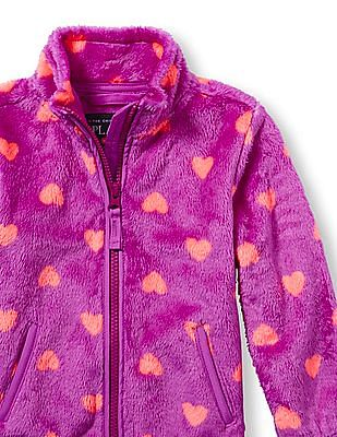 The Children's Place Toddler Girl Long Sleeve Heart Print Favourite Jacket