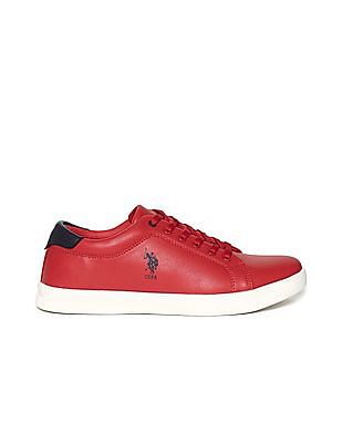 U.S. Polo Assn. Red Round Toe Low Top Sneakers