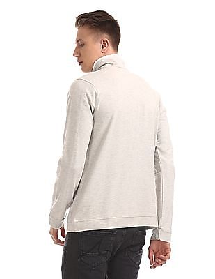 Cherokee High Neck Heathered Sweatshirt