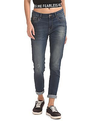 Flying Machine Women Washed Super Skinny Jeans