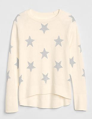 GAP Girls Star Hi-Lo Sweater