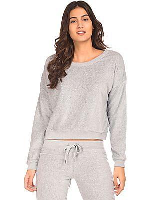 Aeropostale Heathered Brushed Sweatshirt