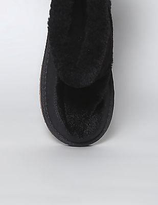 GAP Girls Black Faux Fur Boots