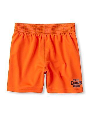 The Children's Place Toddler Boy Orange Active Mesh Shorts