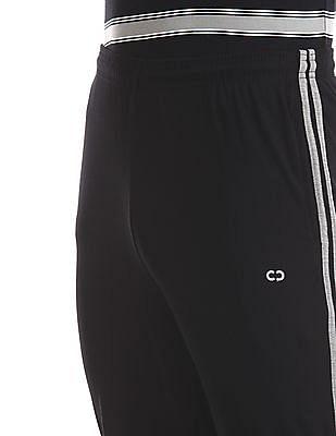 Colt Black Elasticized Waist Solid Track Pants