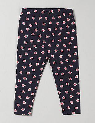 GAP Toddler Girl Blue Print Leggings In Stretch Jersey