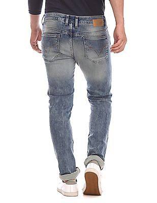 Flying Machine Blue Jackson Skinny Fit Faded Jeans