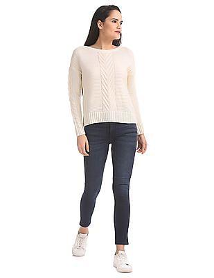 Aeropostale Regular Fit Patterned Knit Sweater