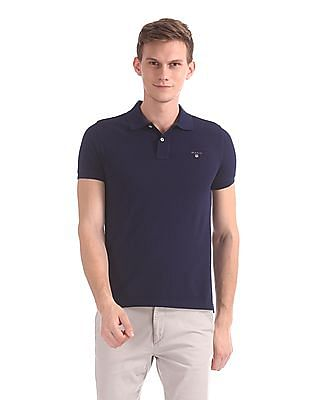 Gant The Original Slim Pique Short Sleeve Rugger Polo Shirt