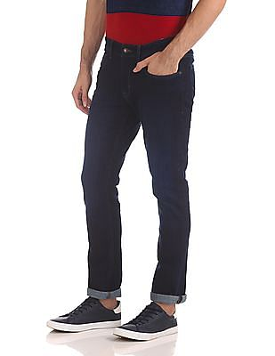 U.S. Polo Assn. Denim Co. Woody Slim Straight Fit Rinsed Jeans