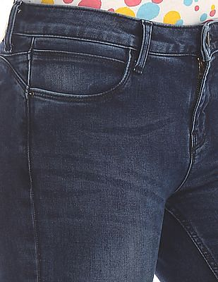 Cherokee Blue Skinny Fit Ankle Length Boomerang Jeans