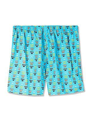 Flying Machine Contrast Print Cotton Boxers