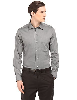Arrow Solid Textured Shirt