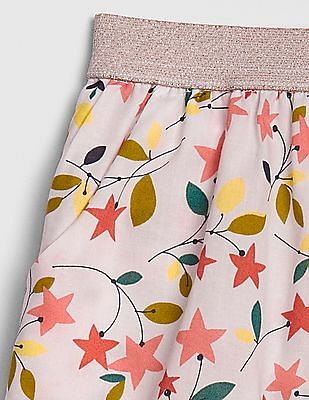 GAP Toddler Girl Lurex Waistband Printed Shorts